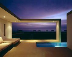 beach house - night view living room