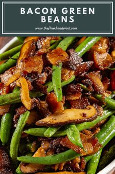 Sauteed Green Beans with Thick Cut Bacon and Mushrooms Sauteed green beans with bacon, caramelized onions, and tender mushrooms. A flavorful, easy, bacon green beans dish that's perfect to add to your list of thanksgiving side dish recipes. Thanksgiving Green Beans, Thanksgiving Vegetables, Thanksgiving Sides, Thanksgiving Recipes Side Dishes Green Beans, Sauteed Green Beans, Green Beans With Bacon, Sauteed Greens, Fresh Green Bean Recipes, Best Side Dishes