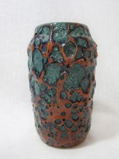 West German Fat Lava Vase