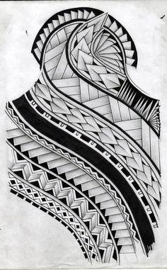 Samoan Tattoo Pattern | samoan tattoo design by koxnas #marquesantattoospatterns #samoantattoosmale