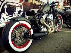 Harley-Davidson bobber by Brass Balls Cycles