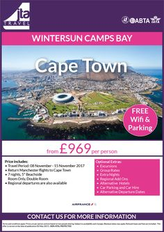 #capetown #lovesouthafrica from £969 per person. Regional departures available, if you don't see what you like please do ask!  We are here