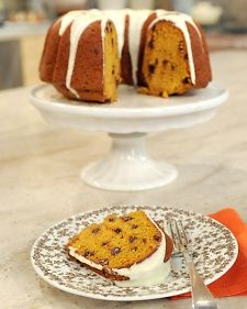Pumpkin-Spice Cake with Chocolate Chips - Martha Stewart Recipes