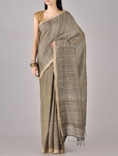 Dusty Sequinned Silk Saree