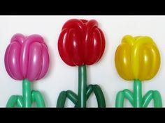 Тюльпан из шаров как сделать / Tulip of balloons tutorial - YouTube