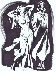 Ra's al Ghul and Talia by Steve Rude