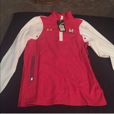 NWT Under Armour  Maryland pullover jacket Mens small. Elastic waist and side zip. Under Armour Jackets & Coats