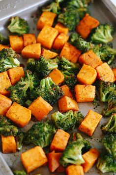 These Perfectly Roasted Broccoli and Sweet Potatoes make a delicious healthy side dish and are seasoned to perfection!