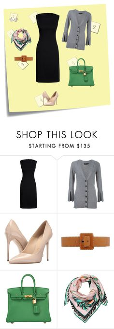 """Work outfit"" by vvejrkova on Polyvore featuring мода, Post-It, Canvas by Lands' End, Calvin Klein Collection, Massimo Matteo, Michael Kors, Hermès и Emilio Pucci"
