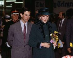 Diana and Prince Charles - I always loved this coat! The trim!