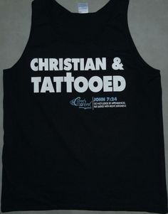 Tank Top Christian & Tattooed on black | CoveredntheWORD Christian T-shirts & Tank Tops
