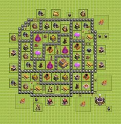 clash of clans base plan town hall level 6