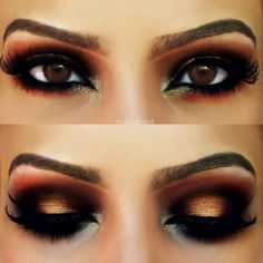 This arabic eye makeup with warm brown hues will make everyone will stop and stare when you strut this makeup.