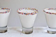 cake batter martinis -- made with UV cake vodka and Godiva white chocolate liqueur food