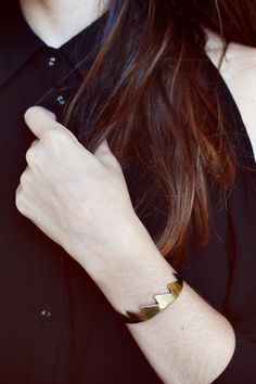 Brass cuff by Young Frank