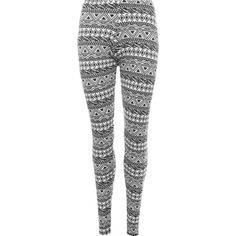 Janette Aztec Stretch Print Leggings (16 AUD) ❤ liked on Polyvore featuring pants, leggings, black, elastic waistband pants, legging pants, patterned leggings, aztec patterned leggings and stretchy pants