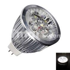 MR16 4W 4 LED 400 Lumen 6500K White Spotlight LED Bulb(12V)