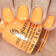 China Glaze None Of Your Risky Business | Summer 2016 Lite Brites Collection | Peachy Polish #orange
