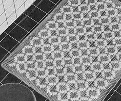 Grandmother's Pattern Book » Vintage Crochet Rugs – Motifs