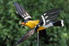 Gold Finch Whirligig Bird, Lawn Ornament,whirlybird, Garden Decor, Whirlygig