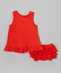 Another great find on #zulily! Red Ruffle Swing Top & Bloomers - Infant & Toddler by Dress Up Dreams Boutique #zulilyfinds