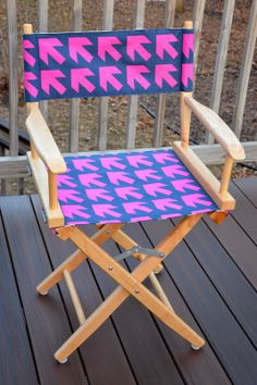 ikat bag: How to sew a Reversible Chair cover for director's chair