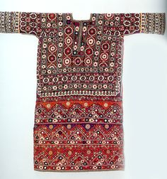 Woman's chola blouse , heavily embroidered with mirror or shisha work, Lohana Sindh , Pakistan