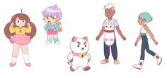 """Efrain's interview is up now too! With some characters I worked on colored :D frederatortimes: """" As art director and color stylist on Bee and PuppyCat, Efrain Farias helps guide the aesthetic of the show. He dreamed of being a video game character..."""