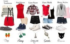 one direction girl outfits One Direction Merch, One Direction Outfits, Zayn Malik, Niall Horan, 1d Preferences, Boy Outfits, Cute Outfits, Harry Styles Cute, 1d And 5sos