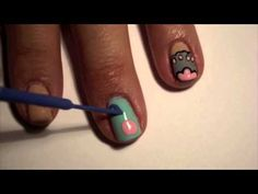 ▶ PUSHEEN NAILS! =^●ㅅ●^= - YouTube omg watch this sooo cute