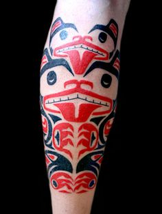 Haida tattoos from the far Western Canadian province of British Columbia. :D