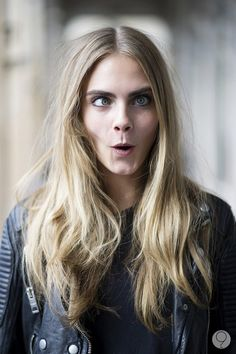 """Cara Delevingne. She's my new favorite model. She's weird and funny and just does not give a fuck. It's really refreshing to see """"fashion icons"""" not take themselves so seriously"""