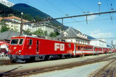 Andermatt, Locomotive, Train, Europe, Photos, Rolling Stock, Photo Illustration, Paint Line, Zug