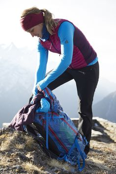 Melissa Arnot and The Sorcerer Pack: both well suited to life in the mountains #GearUpLoadUp