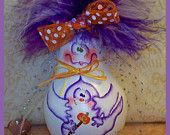 INSTANTLY Download pdf epattern ghost recycled Light Bulb gourd DUSKA Halloween baby ghoul spook ofg prim chick painting pattern 741