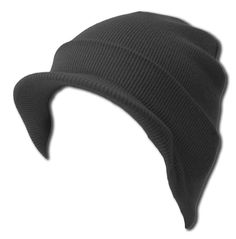 a056ab49464 Knit Cuff Beanie Visor - Winter Wear Sports - Charcoal