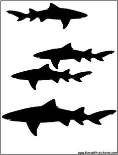 For Jaxton's shirt----Silhouette Picture - Lemon Shark Silhouette Shark Silhouette, Animal Silhouette, Silhouette Art, Shark Party, Ocean Party, Shark Drawing, Silhouette Pictures, Clay Stamps, Shark Tattoos