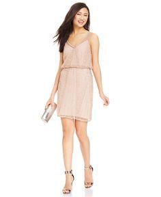 Adrianna Papell Illusion Embellished Blouson Dress - Bridesmaids - Women - Macy's