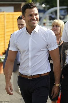 Newlywed Mark Wright enjoyed a rare solo day out at Coral-Eclipse Day at Sandown Park Racecourse in Surrey on Saturday