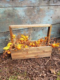 "Create a wonderful rustic modern farmhouse 🍁""fall basket""🍁using these key elements. Vintage tool caddy or wooden box and seasonal sprigs. Pictured here: reclaimed wood tool caddy and pumpkin sprig. Sprig available in shop and online. Urban Farmhouse, Wood Tools, Vintage Tools, Bee Keeping, Rustic Modern, Wooden Boxes, Display Ideas, Basket, Pumpkin"