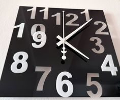 Clock, Wall, Home Decor, Minerals, Rhinestones, Decorating, Watch, Decoration Home, Room Decor