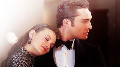 Blair Waldorf and Chuck Bass. Gossip Girl.  Leighton Meester and Ed Westwick.