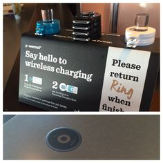 My local Starbucks started offering wireless charging rings on their countertops.