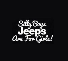 Silly Boys - Vinyl Decal Choose Size and Color Made with 100% Automotive Grade Vinyl.