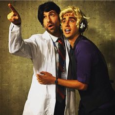 Cecil Baldwin and Dylan Marron dressed as each other's characters from Welcome to Night Vale. Halloween, 2015.