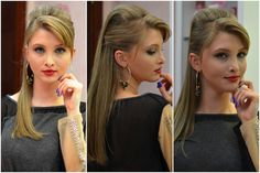 Manual do Cabelo: Moicano 'Rocker' | Vanessa Wonsovicz | Moda ... Up Hairstyles, Wedding Hairstyles, Feminine Style, Feminine Fashion, Hairdresser, Hair Inspiration, Beauty Hacks, Beauty Tips, Youtube