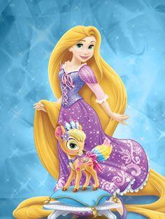 Rapunzel  and gleam by unicornsmile