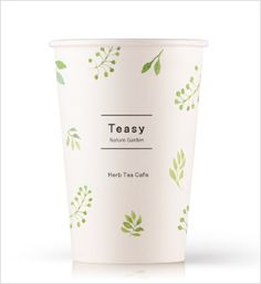 """PaperCup Design by Bizhows.com. You can see 3D rendering views and edit in """"SmileCanvas"""" to order the papercup with your own design. Take Away Coffee Cup, Coffee Cup Art, Coffee Cup Design, Cool Packaging, Brand Packaging, Packaging Design Inspiration, Graphic Design Inspiration, Paper Cup Design, Coffee Shop Branding"""