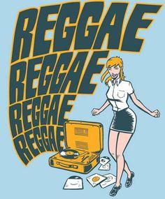 Skinhead Girl dancing to the #reggae  Art by Ramon :https://www.facebook.com/ramon.gironesdiaz