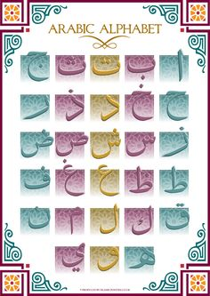 Arabic Alphabet by billax.deviantart.com